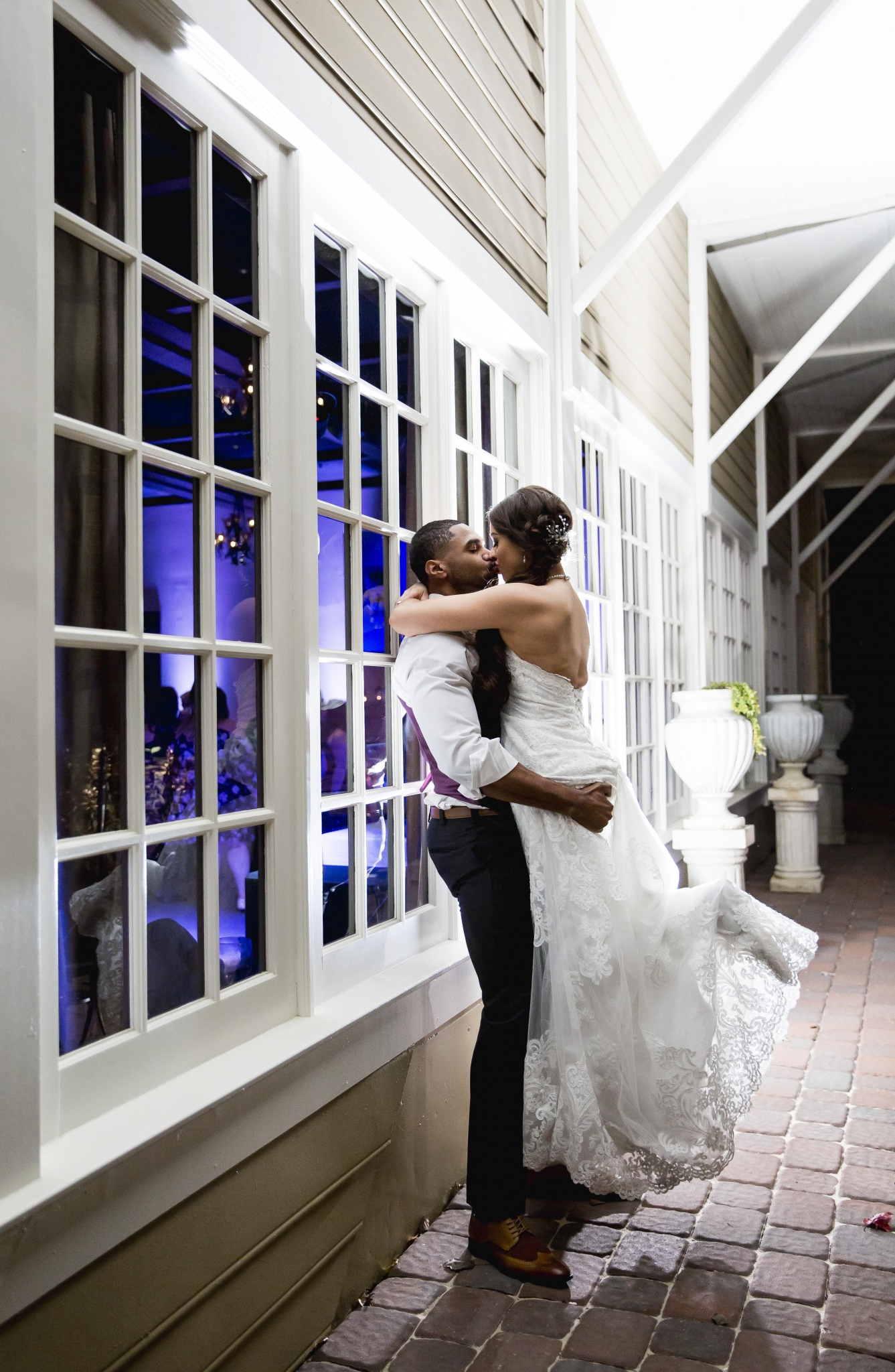 The Inn At Leola Village, A Historic Hotel of America | Leola | Wedding Couple in Bella Giardino